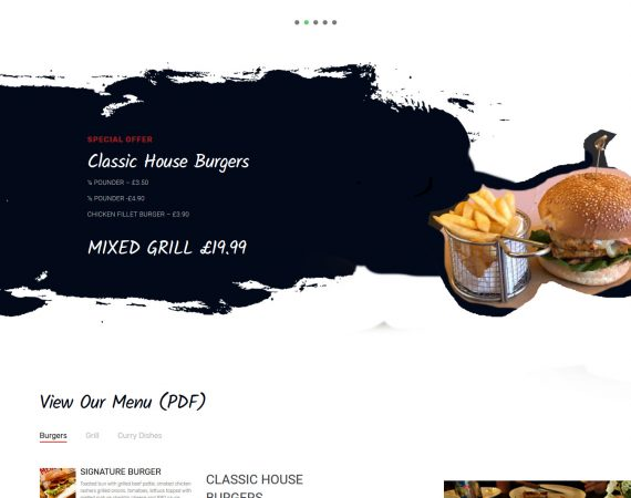 Cambridge gourmet grill web design