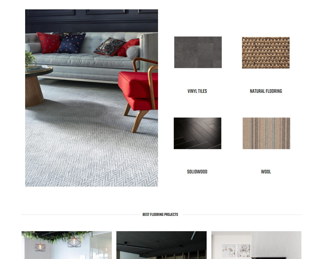 web site for a flooring company
