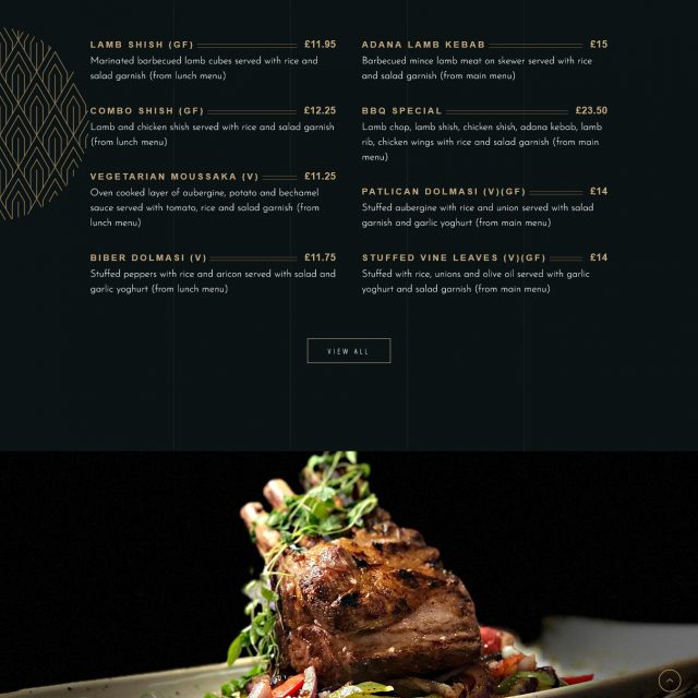 web site for a turkish restaurant, bar and grill