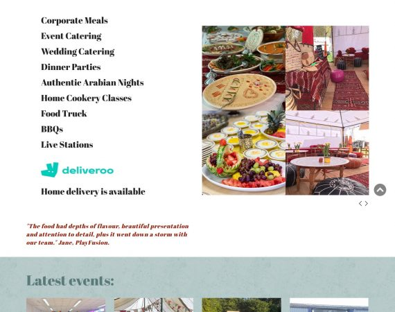catering company web site